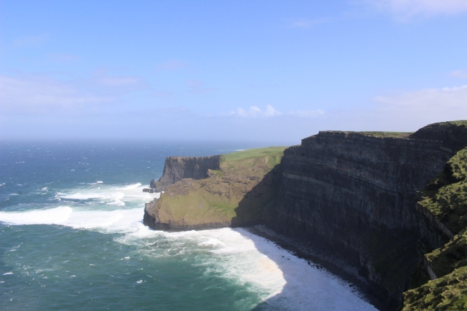 The majestic Cliffs of Moher. If you ever visit remember to watch your step. It's quite a long ways down.