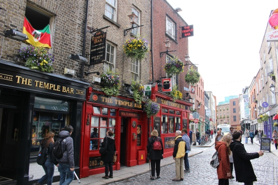 Since I'm about to head out for some delicious brews, the infamous Temple Bar seems fitting.